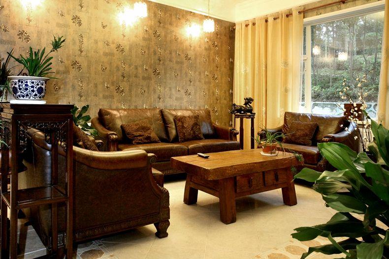 低奢欧式复古设计客厅沙发背景墙效果图