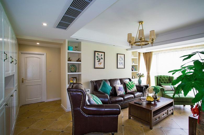 美式复古装修客厅背景墙效果图