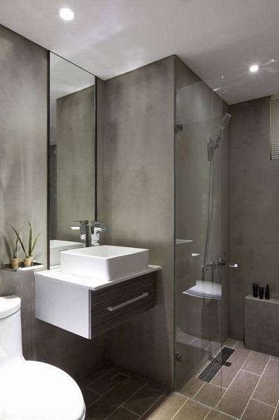 时尚现代简约小二居卫生间装潢效果图