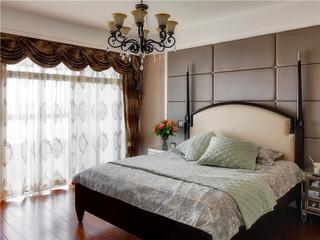现代美式田园风格卧室灯具装饰效果图