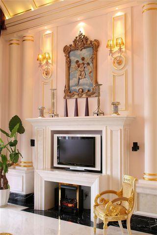 欧式现代风格客厅电视背景墙装潢效果图