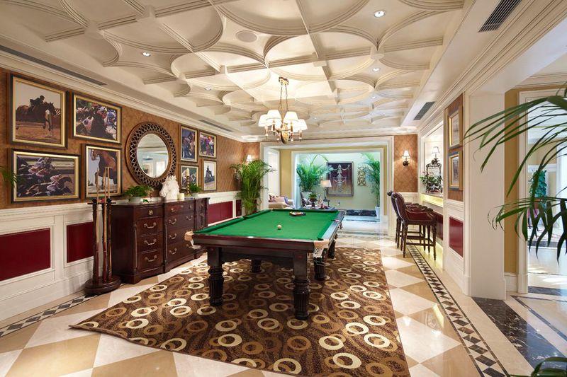 豪华欧式风格别墅室内休闲区吊顶设计欣赏图