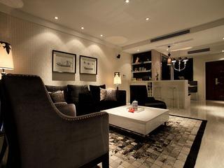 沉稳暗色调时尚现代摩登三居装潢案例图