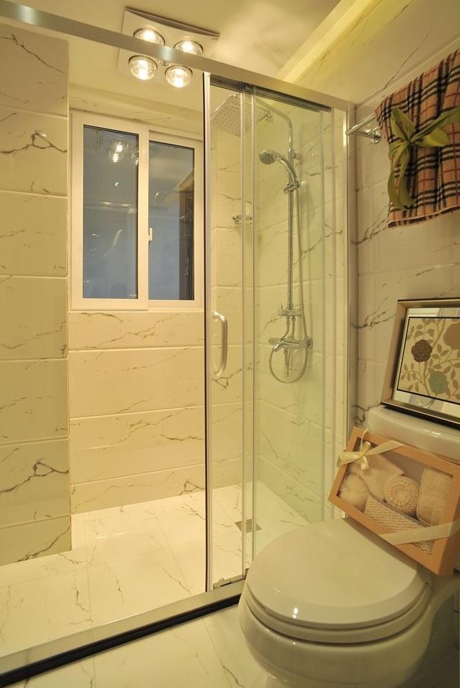 现代简约洗手间淋浴房隔断效果图