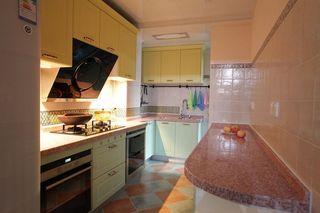 色彩丰富田园风格四居室室内厨房设计效果图片