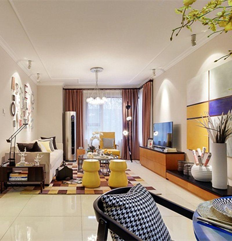 多彩时尚现代感客厅效果图