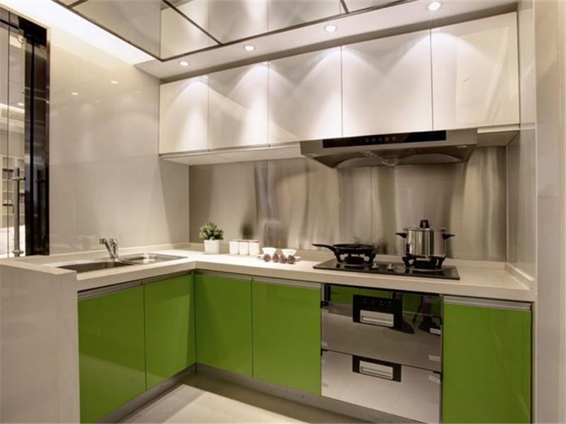 时尚明亮清绿简约厨房装饰效果图