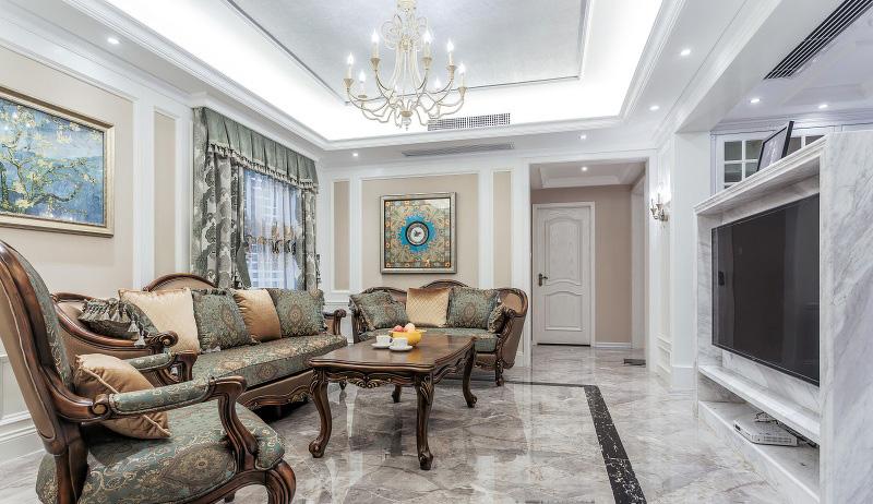 超炫动感时尚现代欧式客厅实木沙发设计图