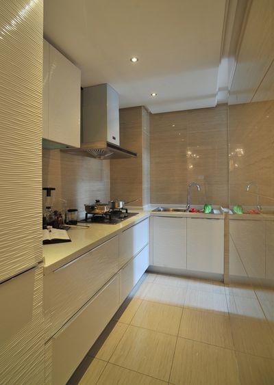 清新简欧风格厨房设计装潢效果图