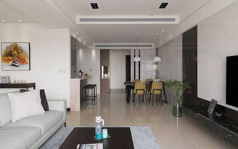 安静祥和简约现代三居餐厅整体设计效果图