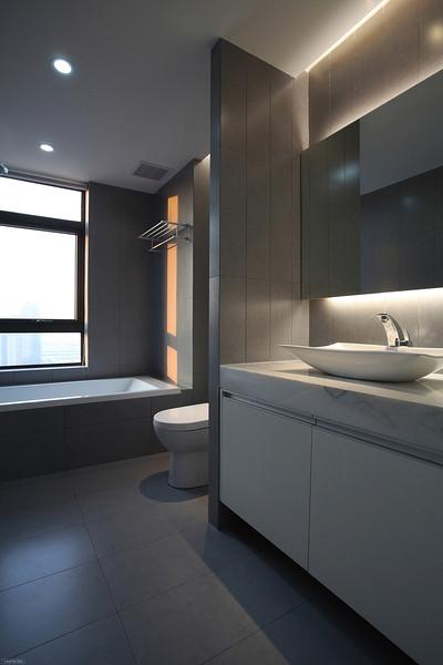 简约清晰现代卫生间欣赏图