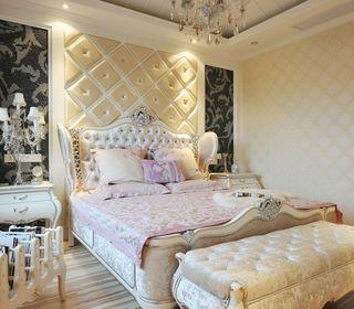 华丽欧式风格卧室软包背景墙效果图片
