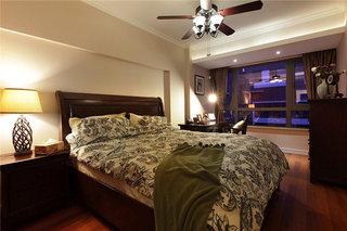 复古简约美式风格卧室窗户效果图