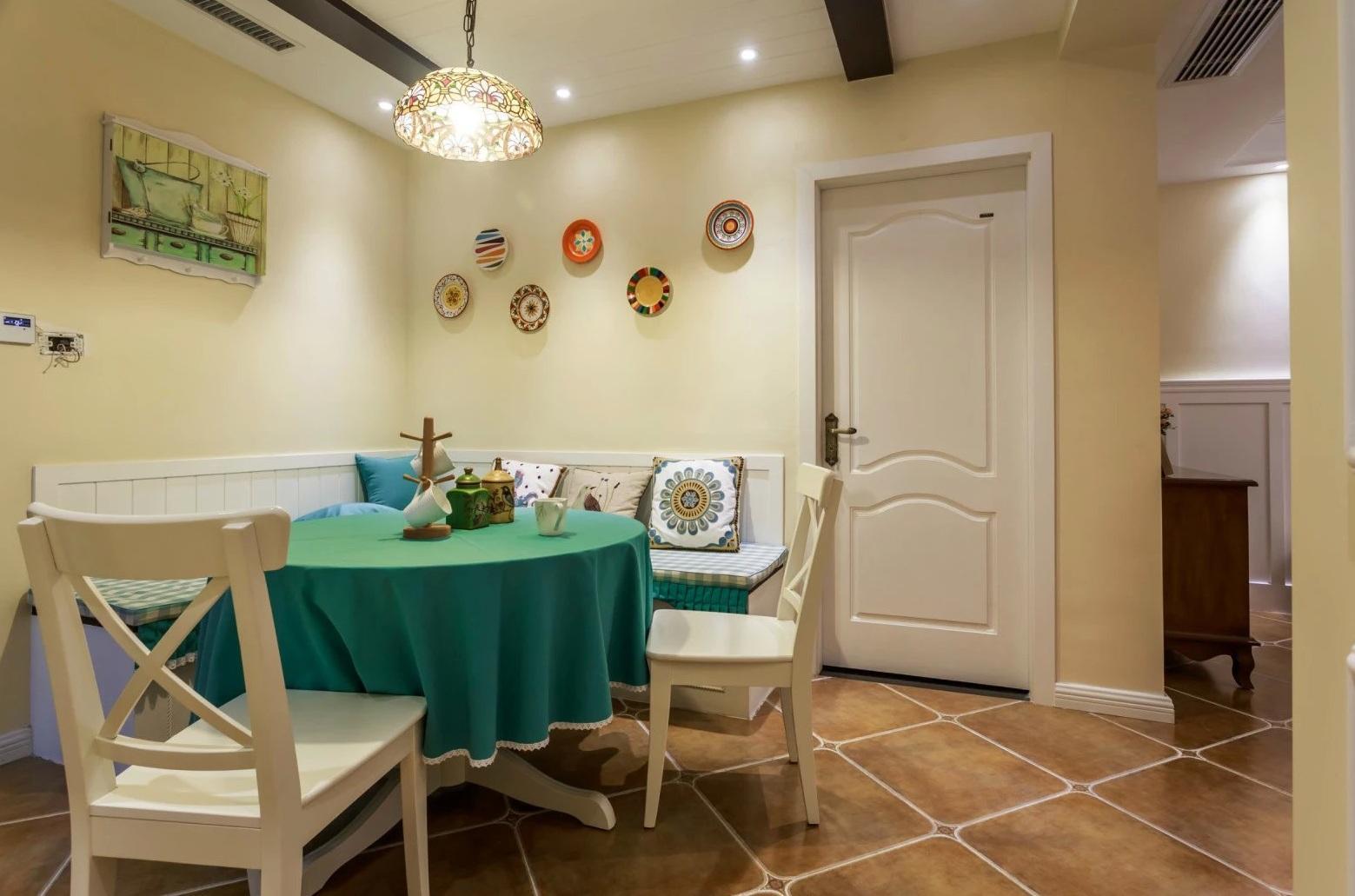 清新美式新古典餐厅过道设计_齐家网装修效果图图片