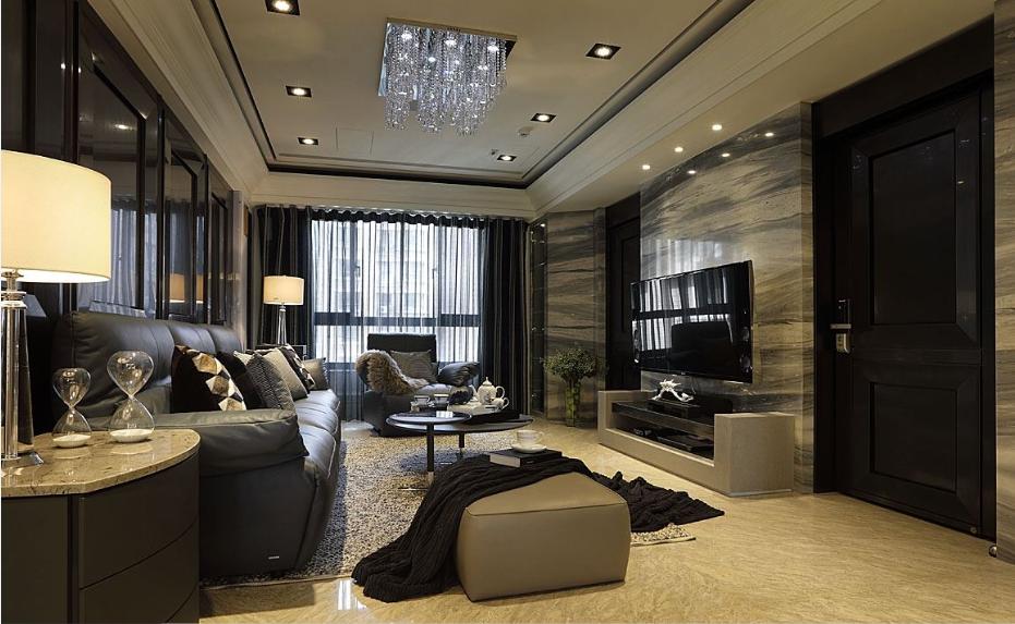 奢华玉石背景欧式风格客厅效果图