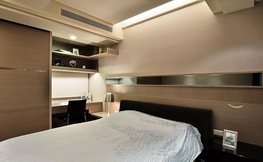 简约现代卧室背景墙装修效果图