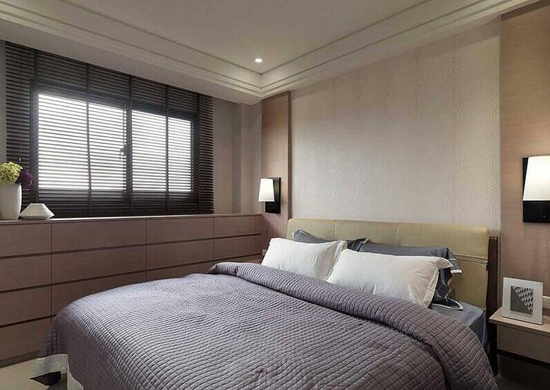 现代时尚三居室卧室搭配效果图
