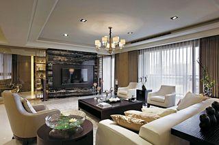 小情调简欧式风格客厅整体效果图