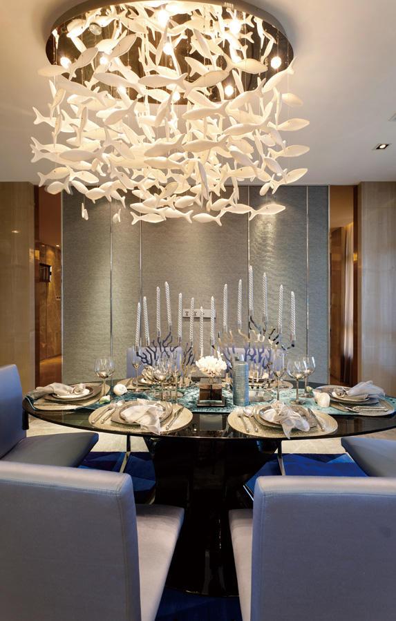 超唯美奢华现代餐厅效果图