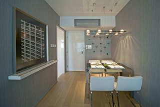 前卫简约餐厅金属背景墙装饰