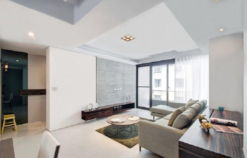 清净简约现代风客厅背景墙效果图