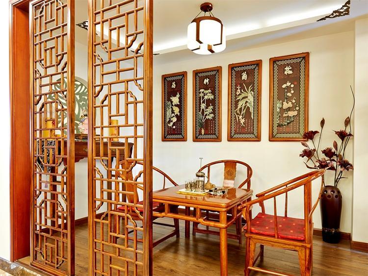 古色清香中式茶室设计效果图