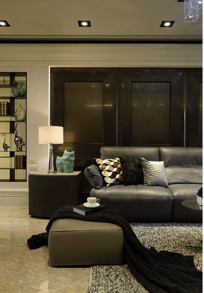 现代欧式风沙发背景墙效果图