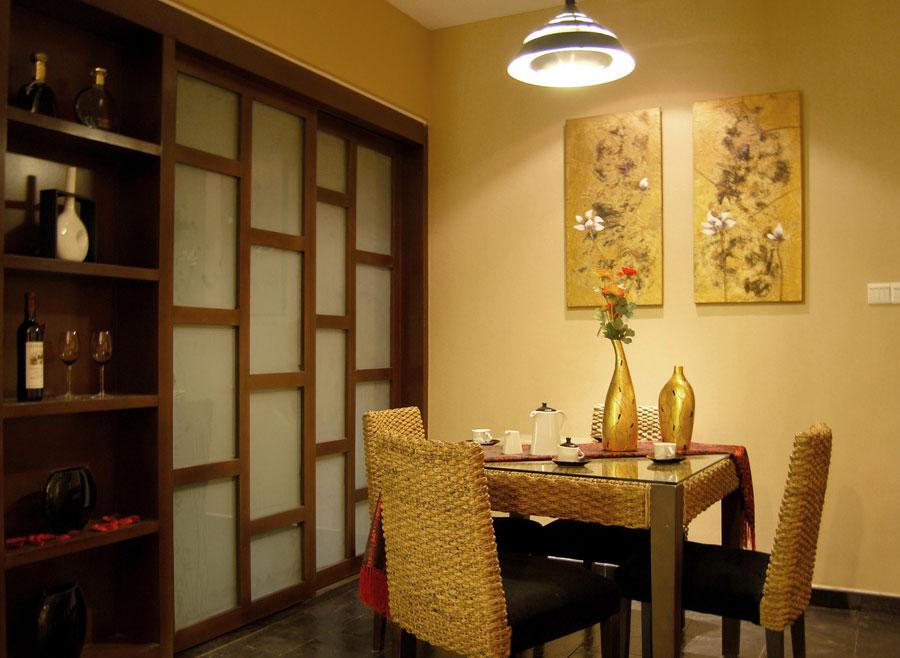经典东南亚风格二居室家装效果图
