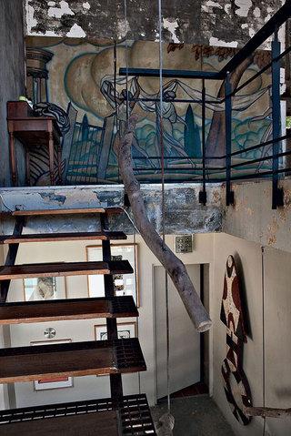 复古美式风格家装楼梯效果图