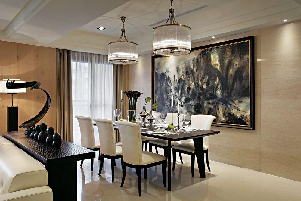 灵净简欧风格别墅&公寓家装餐厅图