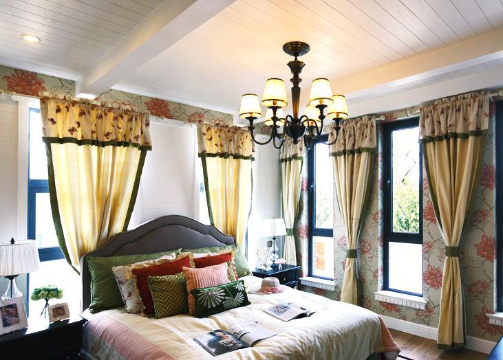 清晰欧式田园豪宅卧室装修效果图