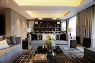 120平时尚现代三居室装修效果图