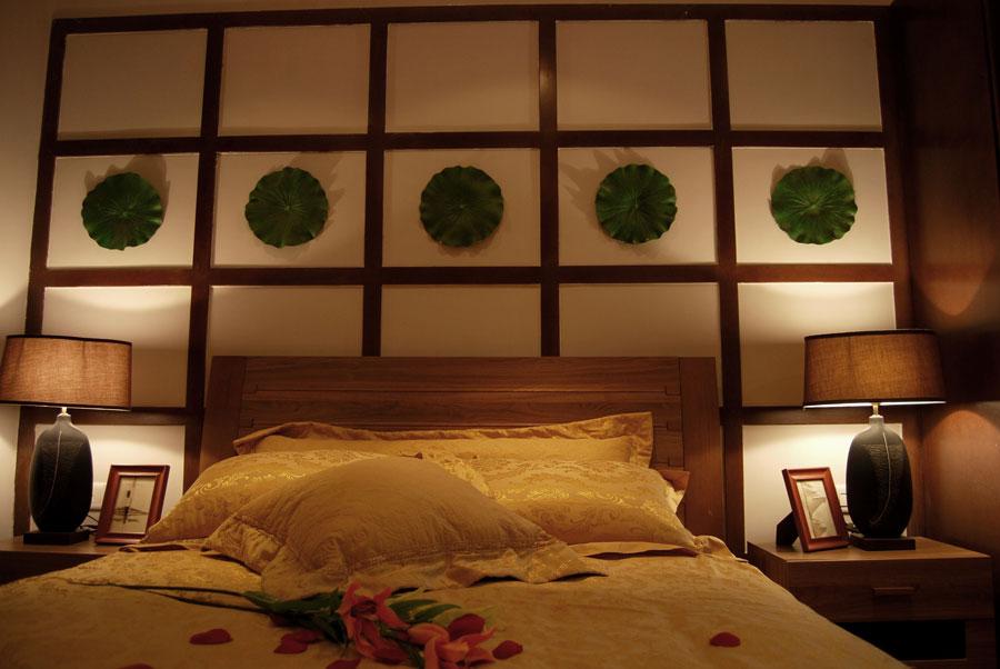 经典东南亚风格二居室主卧室装修效果图