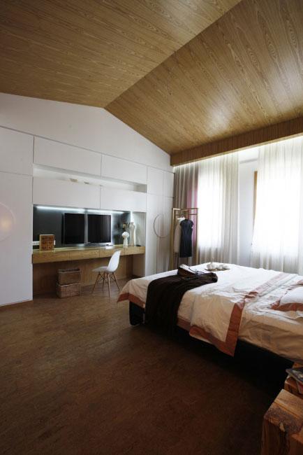 简单三居室日式风格主卧效果图