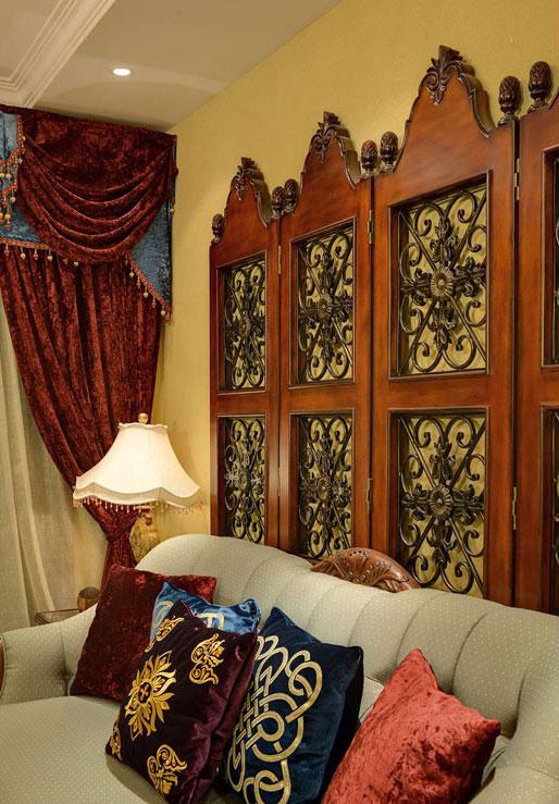 三居室美式风格客厅沙发效果图