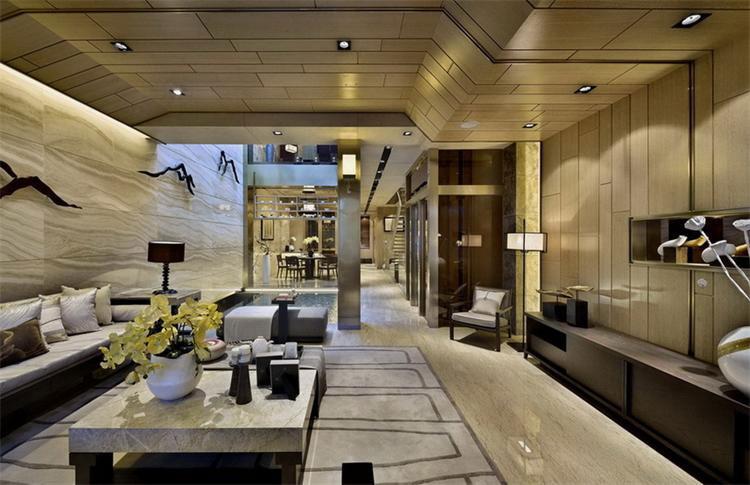 中式风格客厅豪华装修效果图