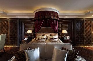 奢华美式主卧室床饰效果图