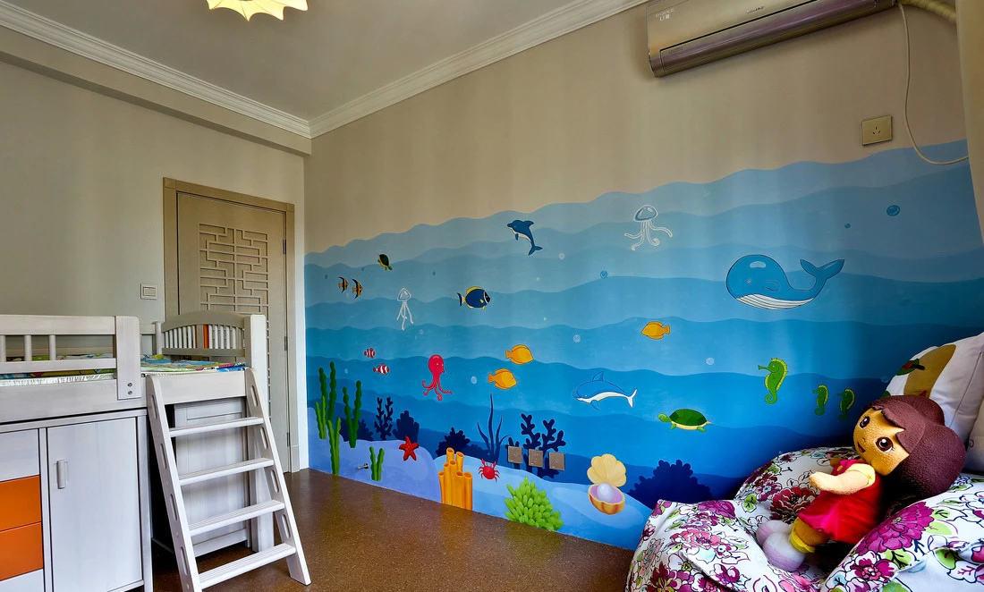 海洋世界简欧风格儿童房效果图