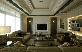 黛丽四居室现代风格家装电视背景墙效果图
