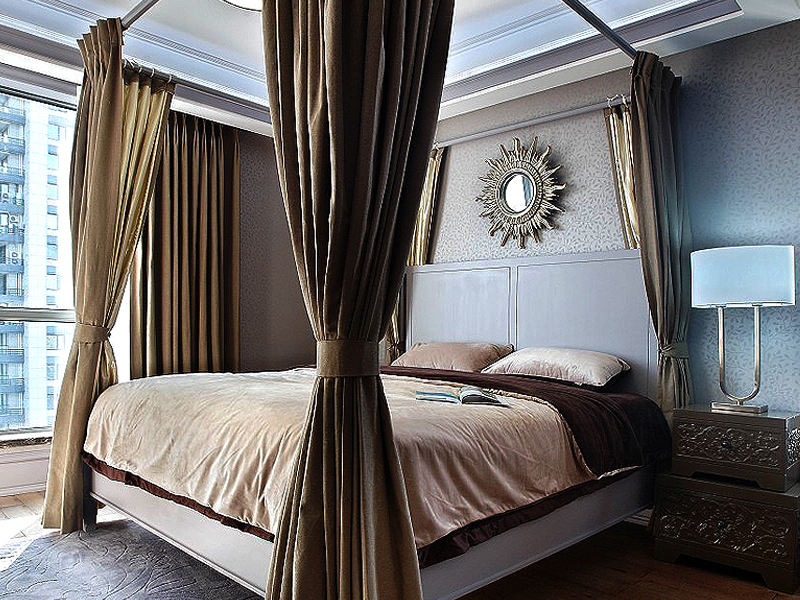 奢华美式地中海混搭卧室效果图