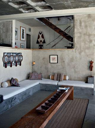 复古美式风格家装客厅效果图片