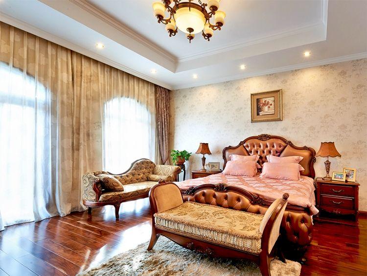 华贵典雅中西混搭别墅卧室软装效果图