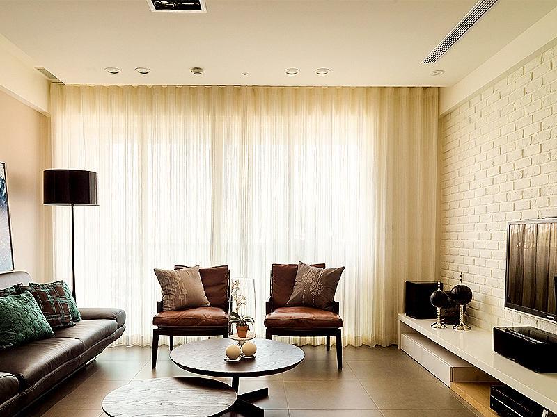 宽敞舒适现代北欧三居室之客厅
