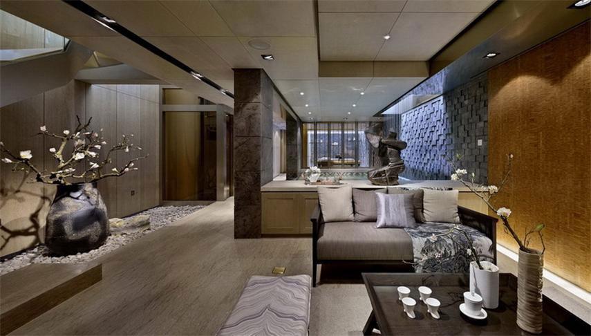 大气中式风格客厅豪华装修效果图