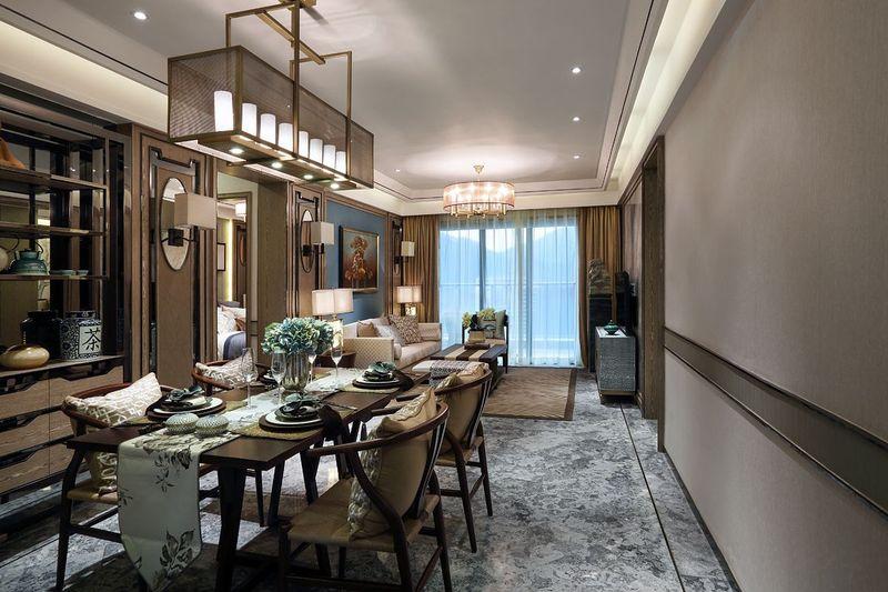 中式新古典主义餐厅效果图