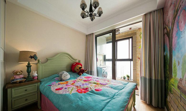 地中海彩色背景墙儿童房