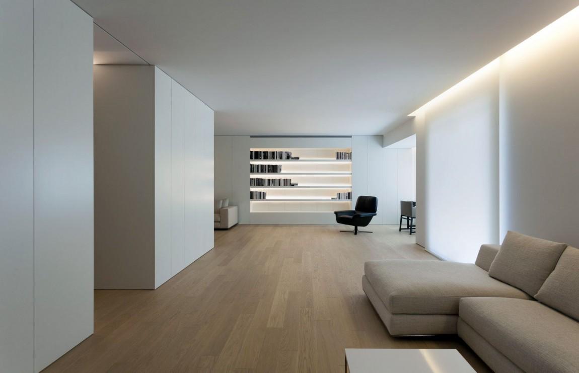 舒适简约书房客厅一体效果图