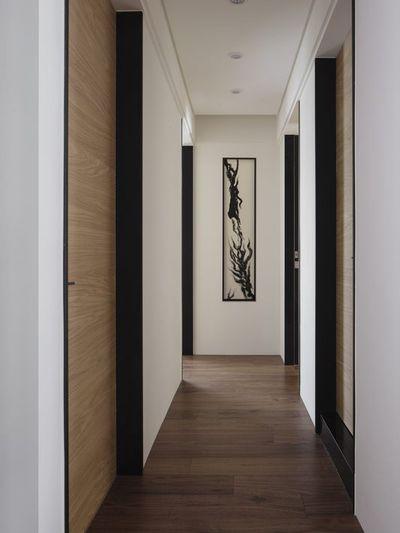 现代素雅超长过道实木地板装修效果图