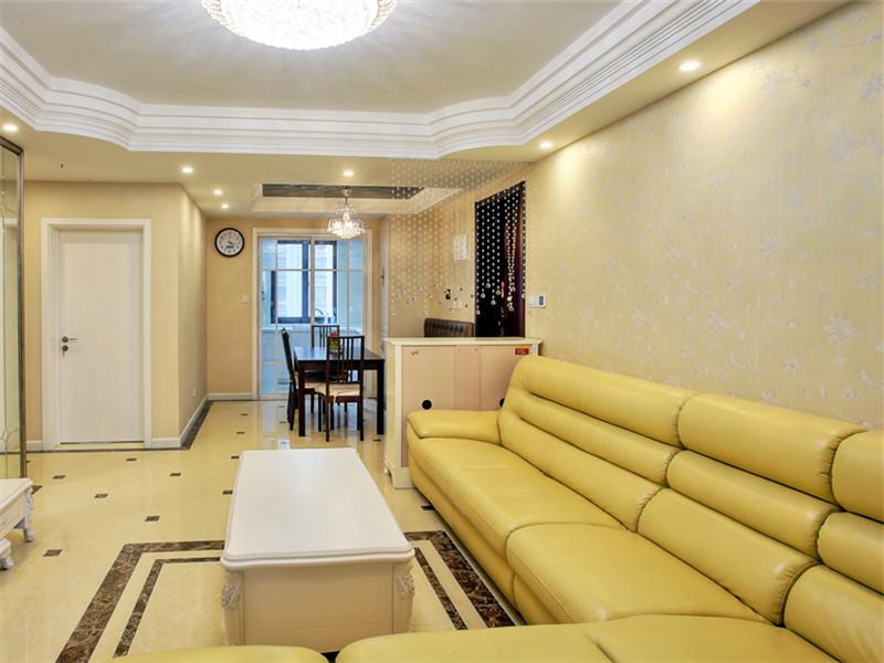 120平现代田园三居室之客厅沙发搭配效果图