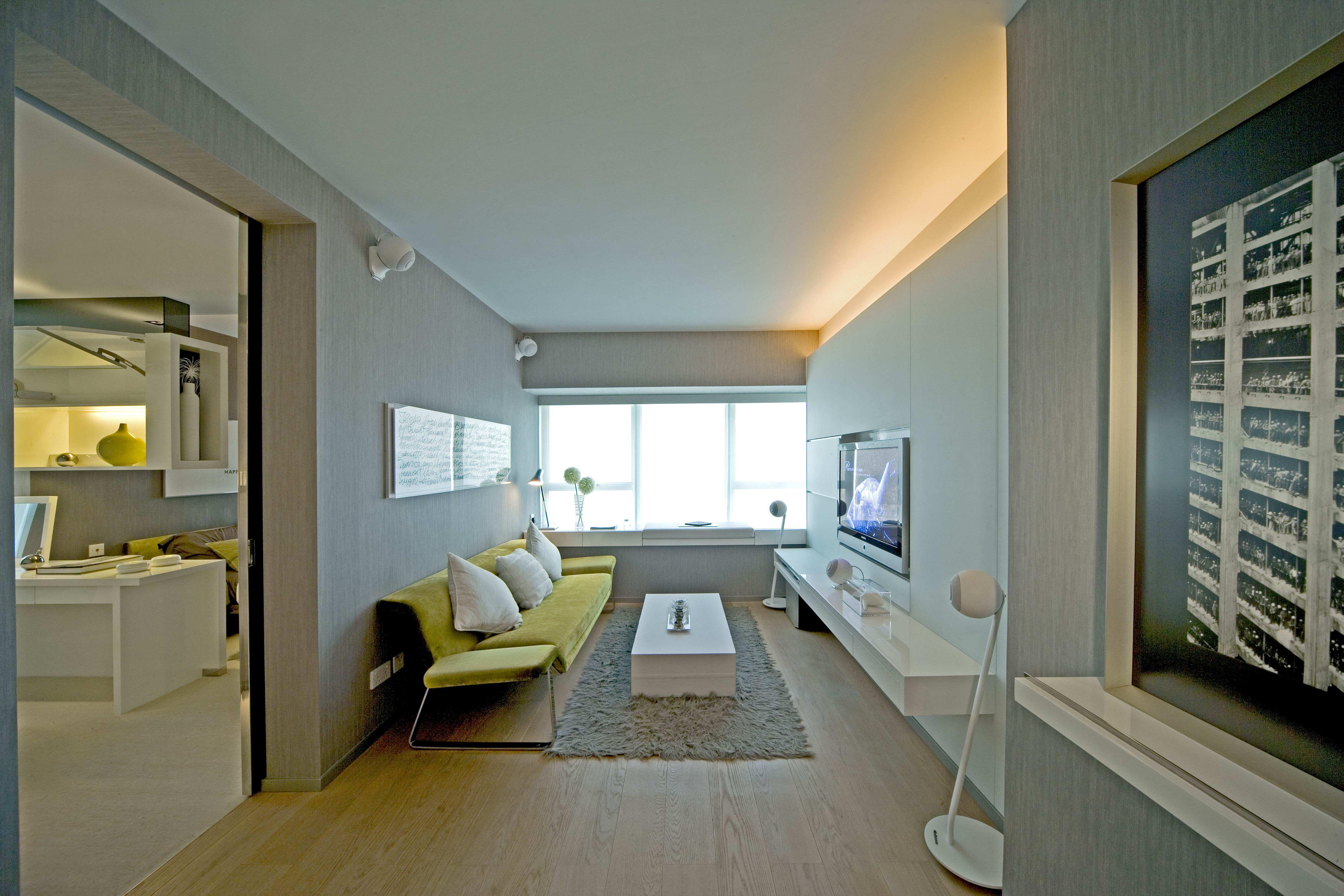 前卫现代简约客厅洗手间装饰效果图